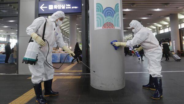 Epidemia koronawirusa w Korei Południowej. - Sputnik Polska