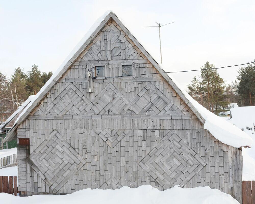 Drewniany dom w obwodzie archangielskim