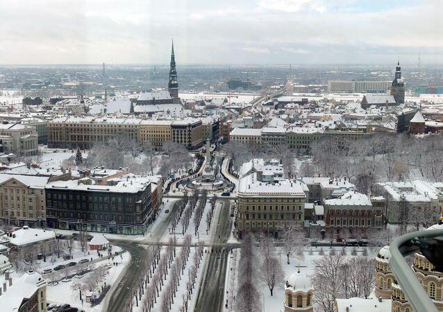 Panorama Rygi z tarasu widokowego