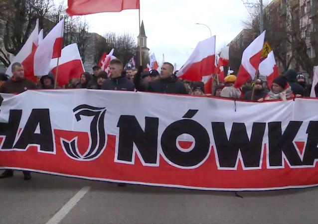 Marsz w Hajnówce