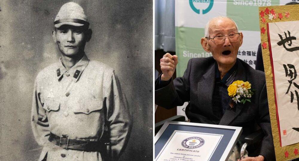 Japoński 112-latek Chitetsu Watanabe otrzymuje certyfikat Księgi Rekordów Guinnessa