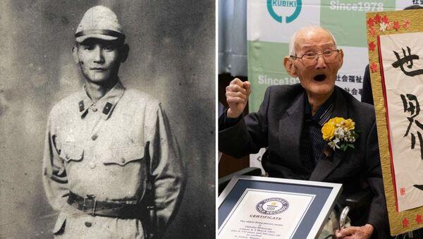 Japoński 112-latek Chitetsu Watanabe otrzymuje certyfikat Księgi Rekordów Guinnessa - Sputnik Polska