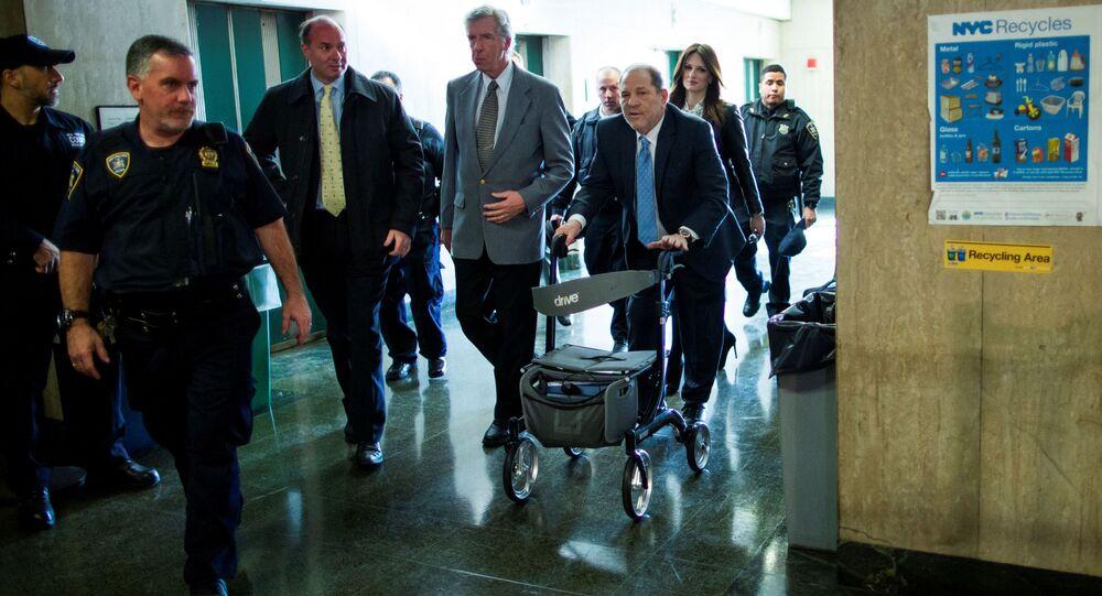 Hollywoodzki producent Harvey Weinstein na procesie w Nowym Jorku