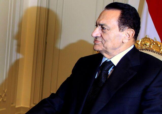 Były prezydent Egiptu Hosni Mubarak.