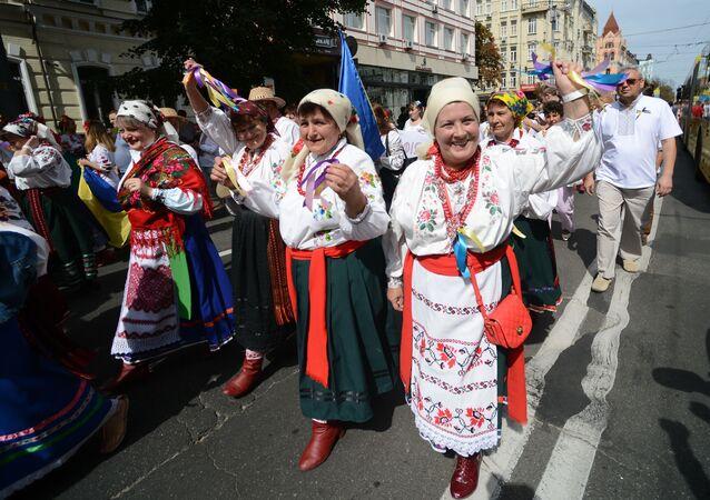 Parada wyszywanek w Kijowie. Dzień Niepodległości w Kijowie