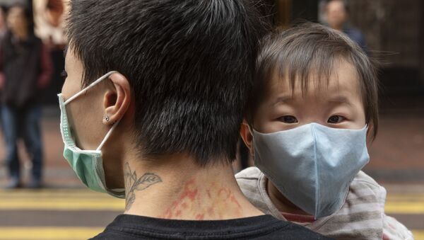 Sytuacja w Hongkongu podczas edpidemii koronawirusa  - Sputnik Polska