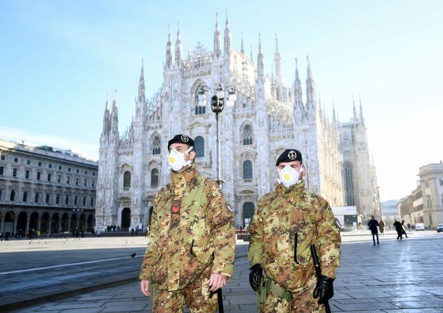 Policja w Mediolanie, Włochy