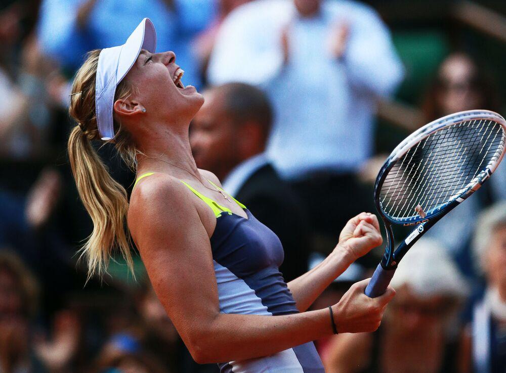 Marija Szarapowa podczas turnieju French Open 2013