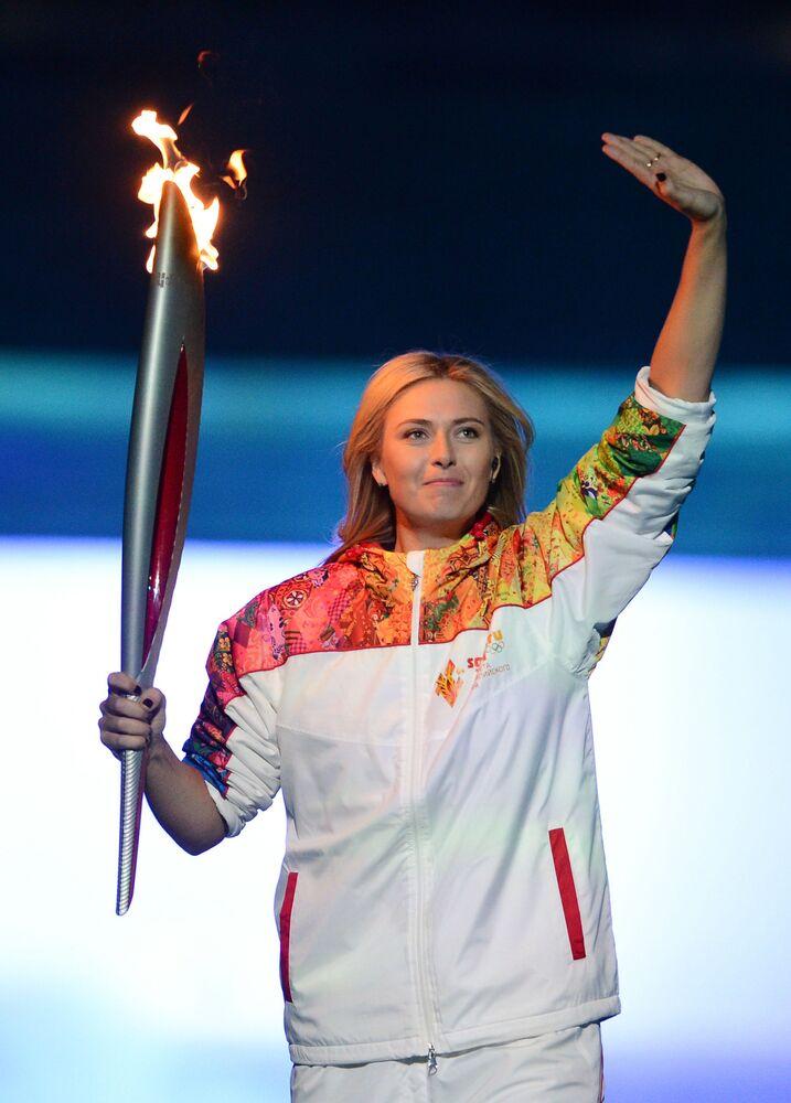 Marija Szarapowa na otwarciu Igrzysk Olimpijskich w Soczi w 2014 roku