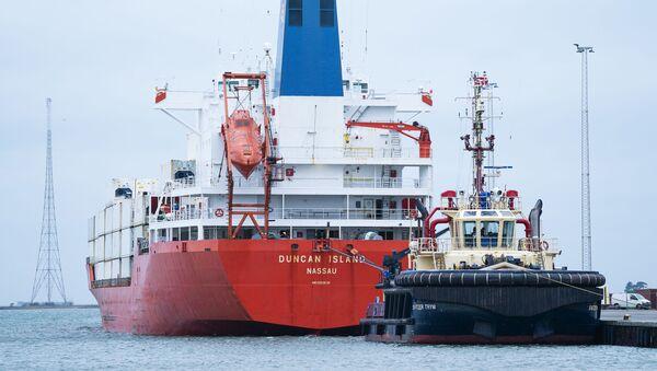 Statek Duncan Island w duńskim porcie  - Sputnik Polska