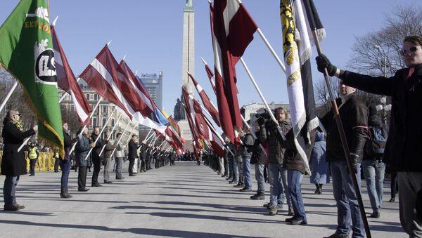 Marsz weteranów oddziałów Waffen SS, Ryga, 16 marca 2014 - Sputnik Polska