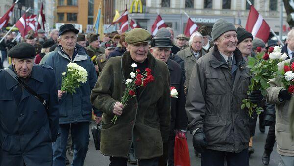 Weterani Łotewskiego Legionu SS - Sputnik Polska