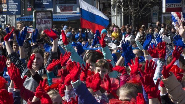 Pierwsza rocznica Krymskiej wiosny - Sputnik Polska