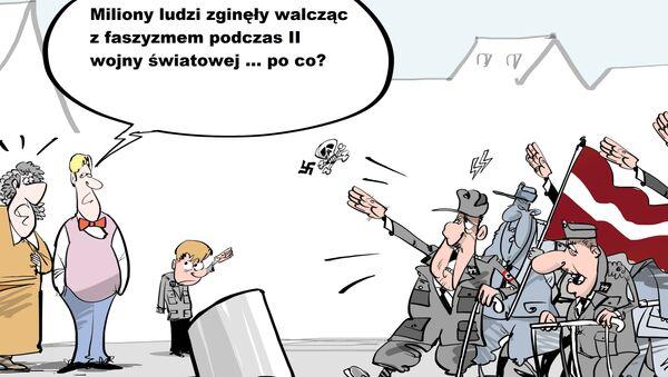 Na coroczny marsz legionistów SS w Rydze - Sputnik Polska