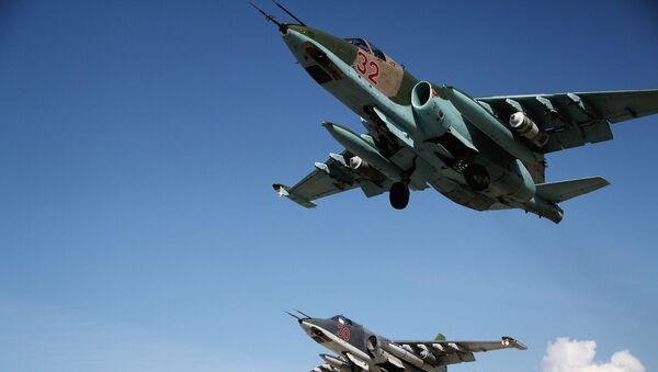 Rosyjskie myśliwce SU-25 - Sputnik Polska