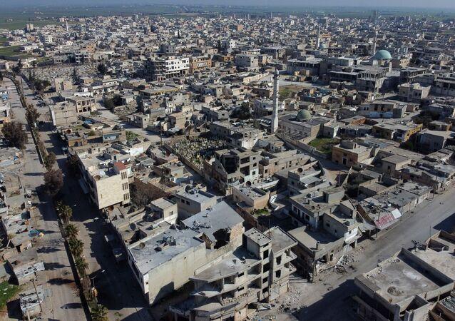 Miasto Sarakib z lotu ptaka, Syria