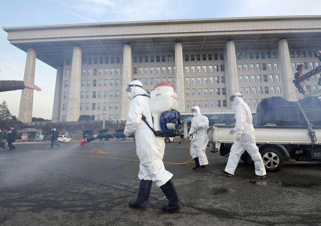 Dezynfekcja w Seulu
