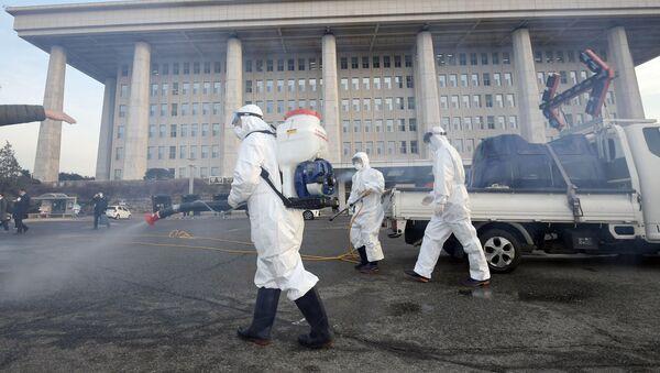 Dezynfekcja w Seulu - Sputnik Polska