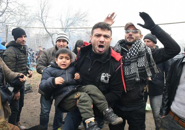 Uchodźcy na tureckiej granicy