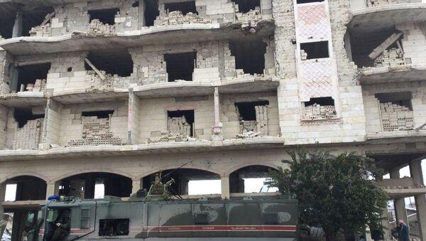 Rosyjska policja wojskowa w prowincji Idlib - Sputnik Polska