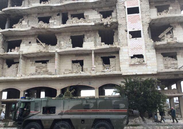 Rosyjska policja wojskowa w prowincji Idlib