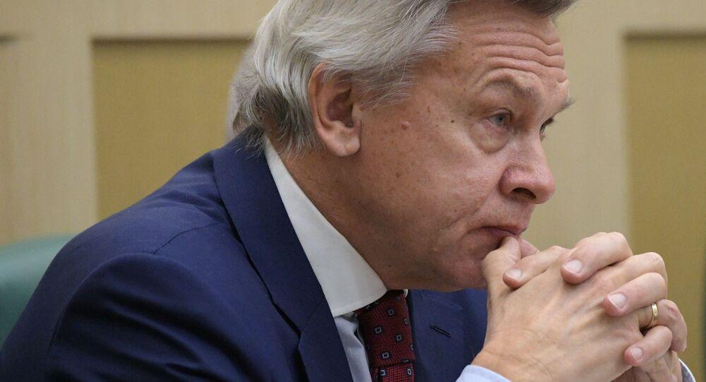 Rosyjski senator Aleksiej Puszkow
