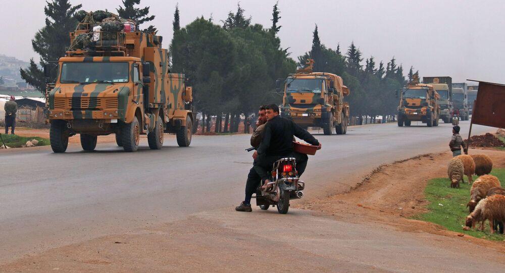 Konwój turecki w prowincji Idlib.