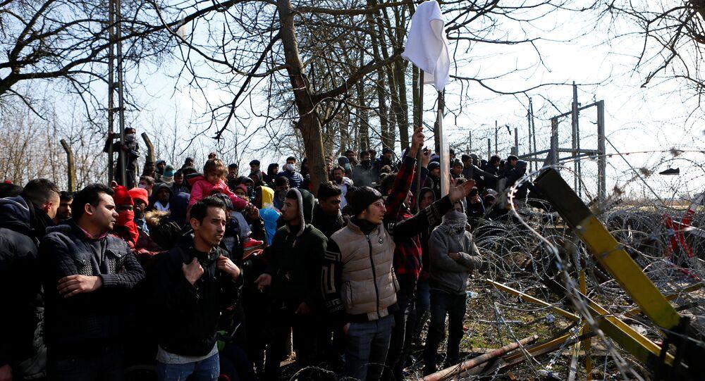 Migranci na granicy turecko-greckiej