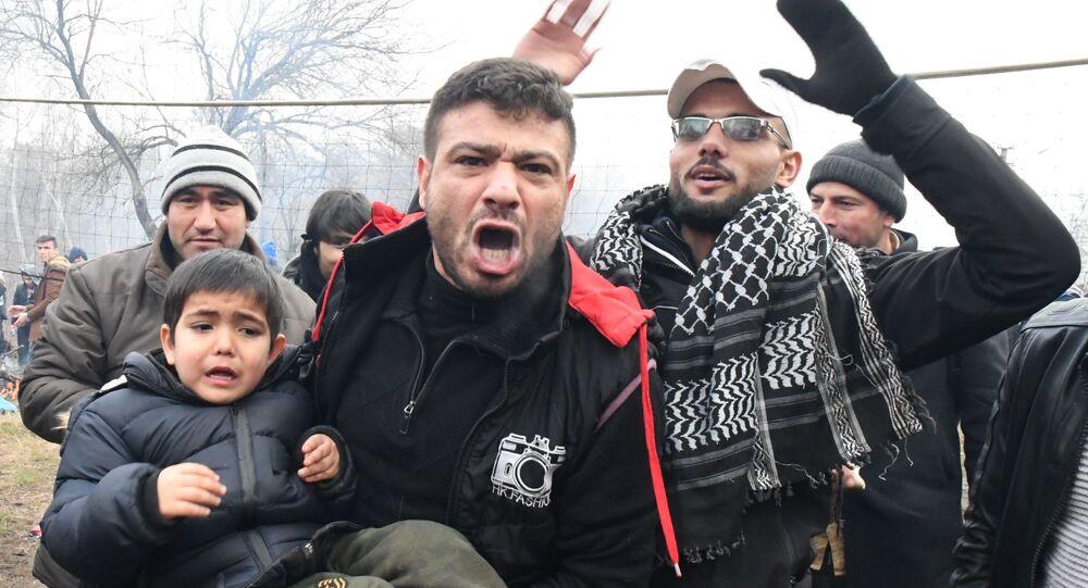 Uchodźcy na granicy Turcji i Grecji