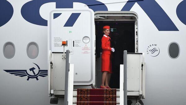 Nowy samolot Aibus A350-900 linii lotniczych Aeroflot - Sputnik Polska