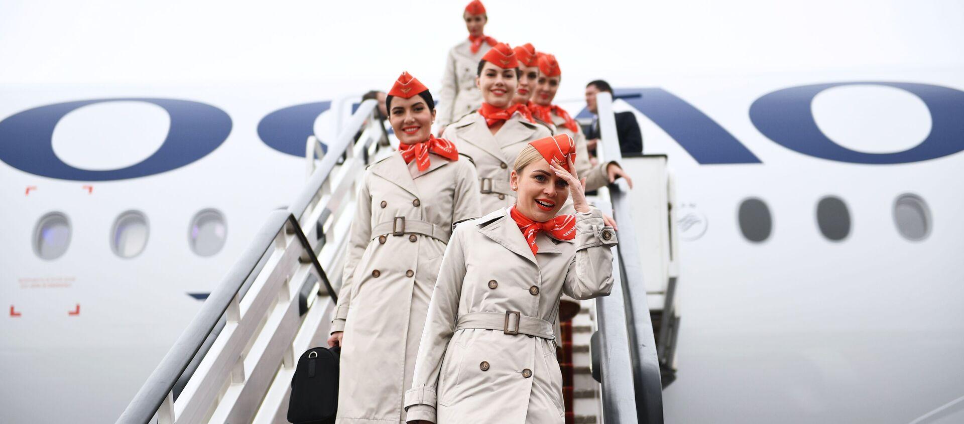 Nowy samolot Aibus A350-900 linii lotniczych Aeroflot - Sputnik Polska, 1920, 19.05.2021