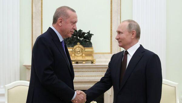 Spotkanie Władimira Putina i Recepa Erdogana na Kremlu  - Sputnik Polska