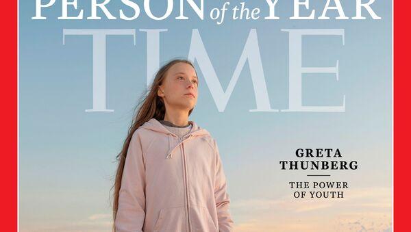 Greta Thunberg na okładce Time - Sputnik Polska