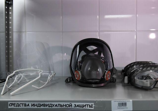 Oddział dla pacjentów z podejrzeniem koronawirusa w szpitalu w Petersburgu