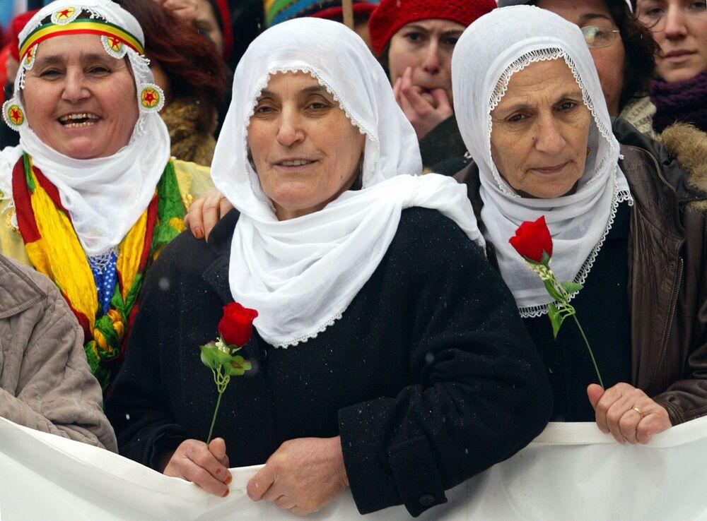 Demonstracja kobiet w Stambule