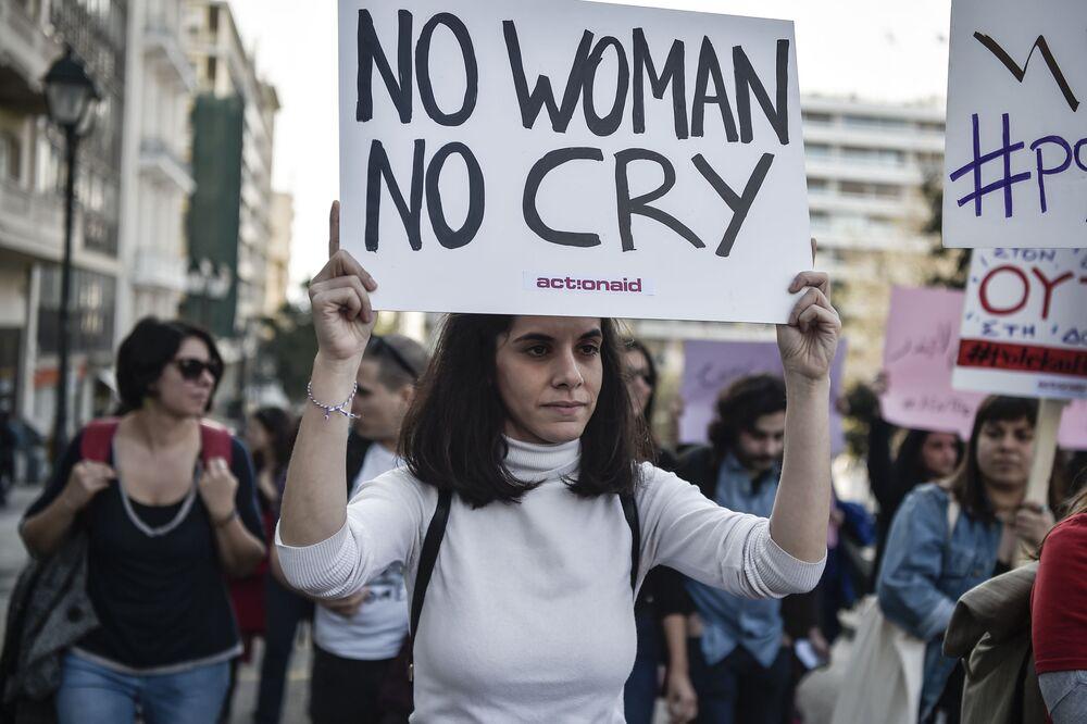 Demonstracja 8 marca w Atenach