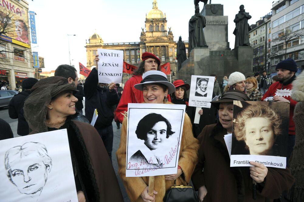 Demonstracja kobiet w Czechach