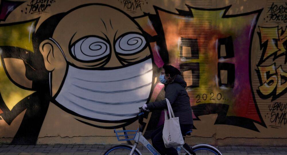 Graffiti na budowie w Szanghaju, Chiny