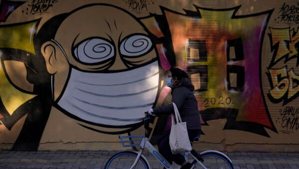 Graffiti na budowie w Szanghaju, Chiny - Sputnik Polska