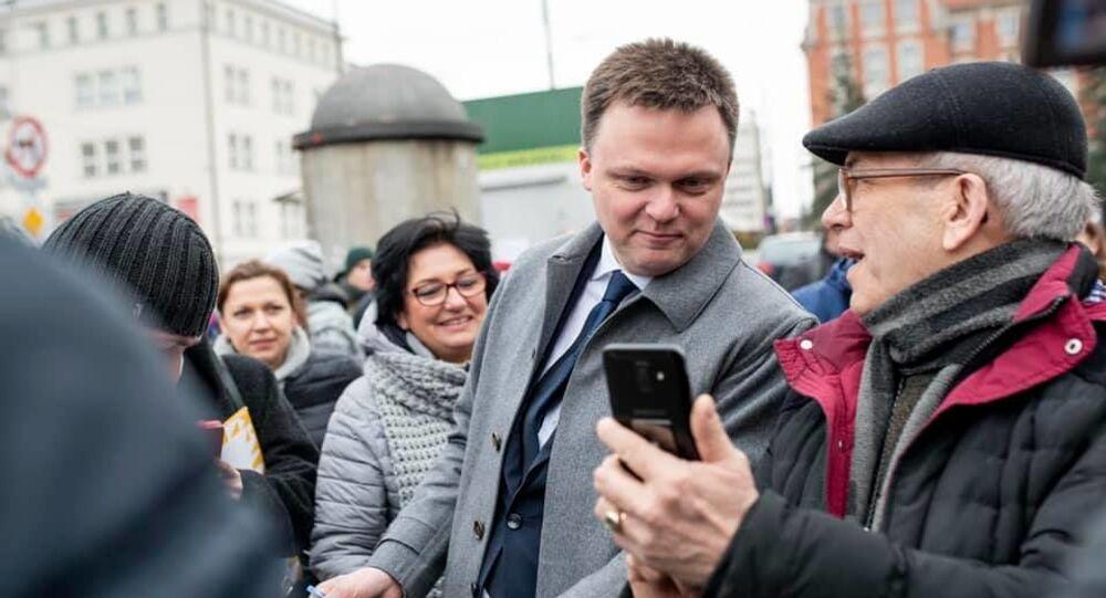 Kandydat na prezydenta Polski Szymon Hołownia