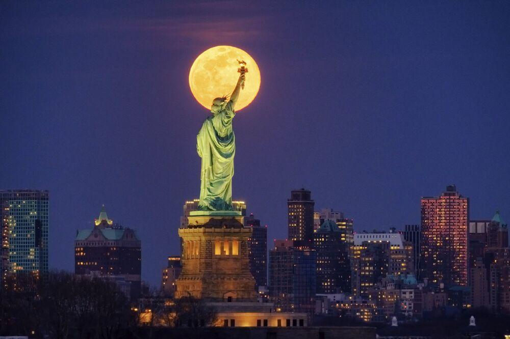 Superksiężyc w Nowym Jorku