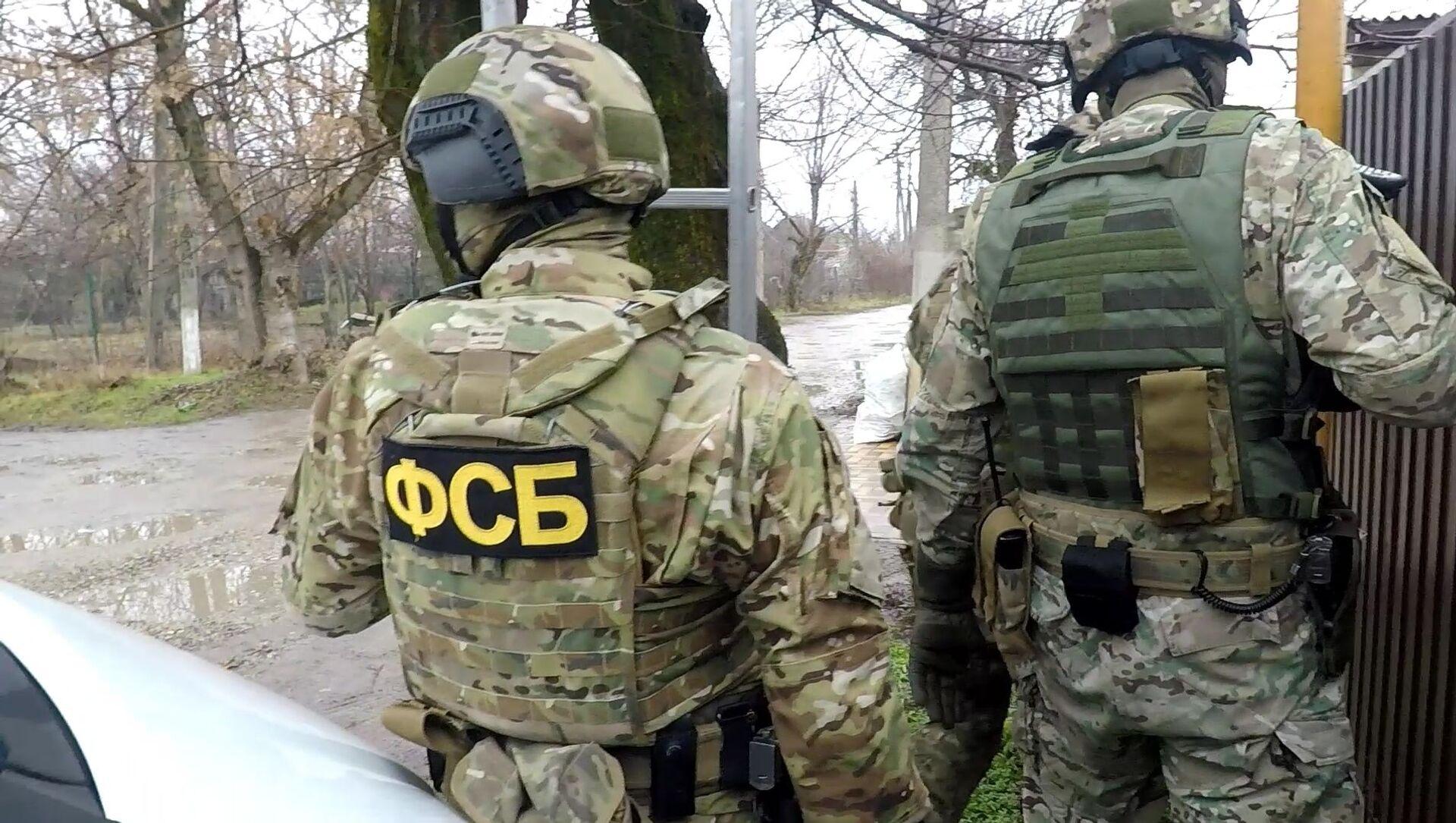 Fukncjonariusze FSB podczas zatrzymania przestępców - Sputnik Polska, 1920, 16.02.2021