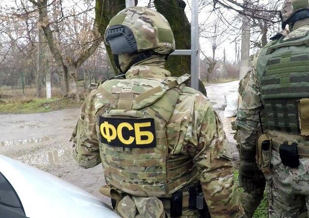 Fukncjonariusze FSB podczas zatrzymania przestępców