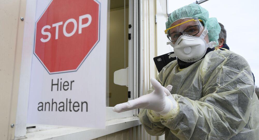 Przed zrobieniem testu na koronawirus, Niemcy