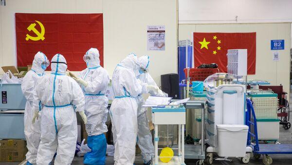Epidemia koronawirusa w Chinach. - Sputnik Polska