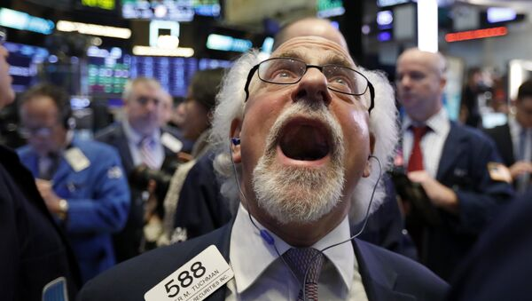 Handlowiec Peter Tuchman na parkiecie nowojorskiej giełdy papierów wartościowych, 28 grudnia 2018 - Sputnik Polska