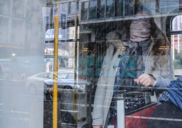 Kobieta w autobusie