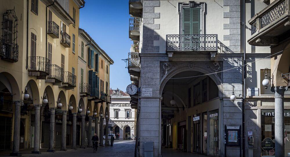 Puste ulice Novary, Włochy.