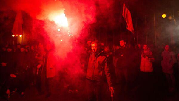 Akcja nacjonalistów w Kijowie. - Sputnik Polska