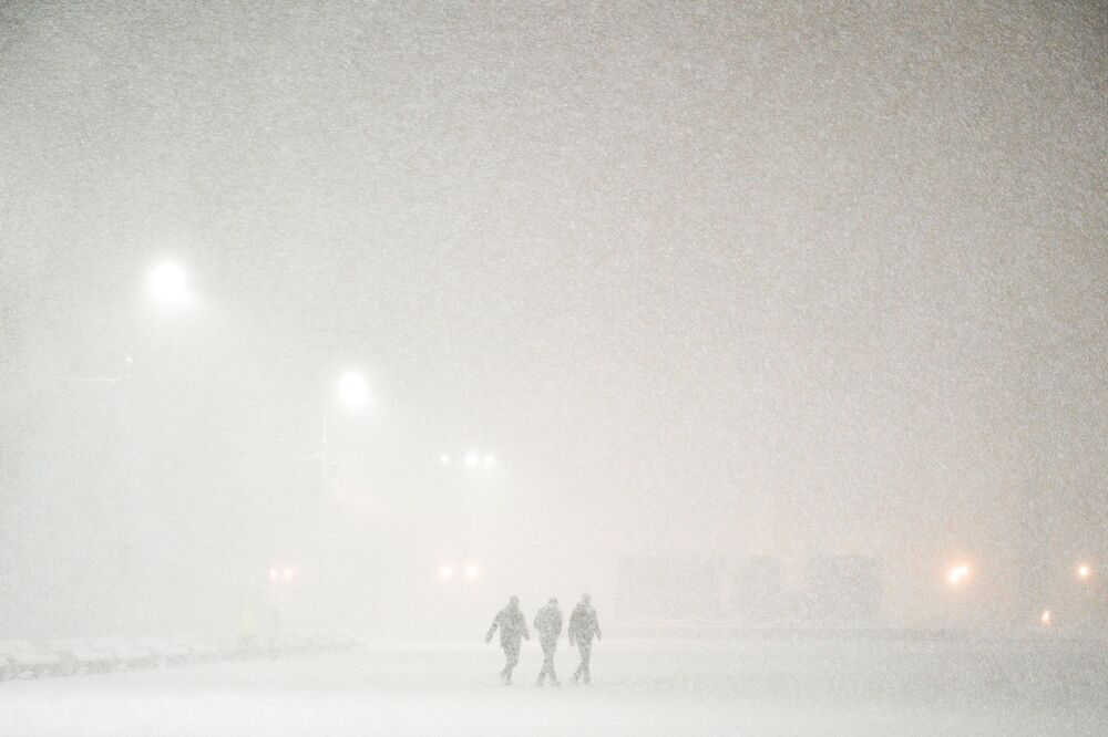 Opady śniegu w Podolsku.